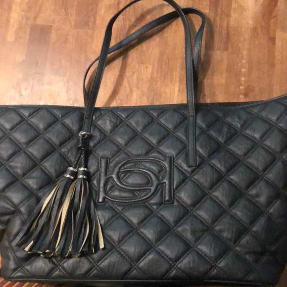 ecfc4802f6 bebe Bags | X Large Black Quilted Faux Leather Tote Bag | Poshmark